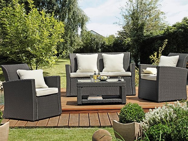 das sunfun lounge set neila besteht aus einem couchtisch. Black Bedroom Furniture Sets. Home Design Ideas