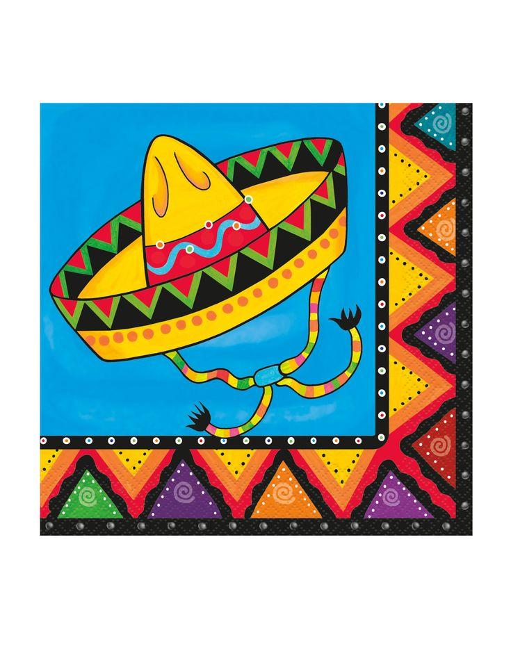 20 tovaglioli di carta Messico su VegaooParty, negozio di articoli per feste. Scopri il maggior catalogo di addobbi e decorazioni per feste del web,  sempre al miglior prezzo!