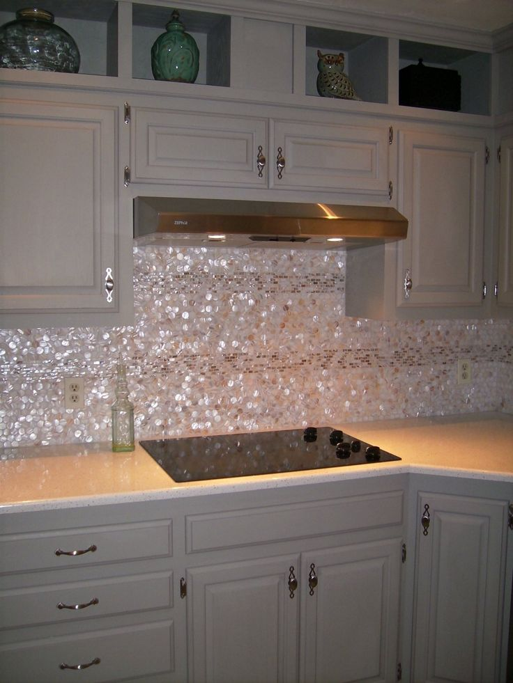 Genuine Mother of Pearl Shell Tile Natural Varied Circles (On a X Mesh) for  Backsplash and Bathroom Walls