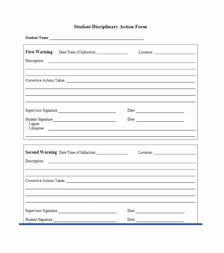 Free Printable Employee Disciplinary Forms Inspirational 40 Employee Disciplinary Action Forms Template La Form Example Document Templates Job Application Form