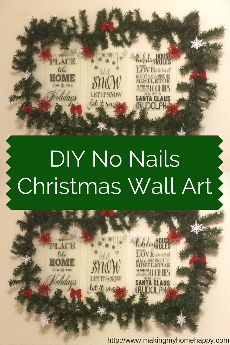 Sometimes when you rent or live at home with your parents, but you still want to put things up on the wall for Christmas. So here's a DIY and a way you can do that!