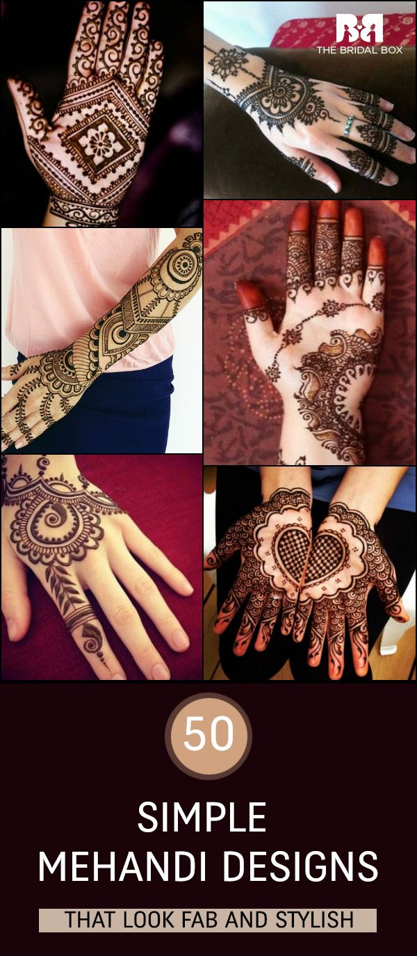 50 intricate henna tattoo designs art and design 50 - 50 Simple Mehandi Designs That Look Fab And Stylish