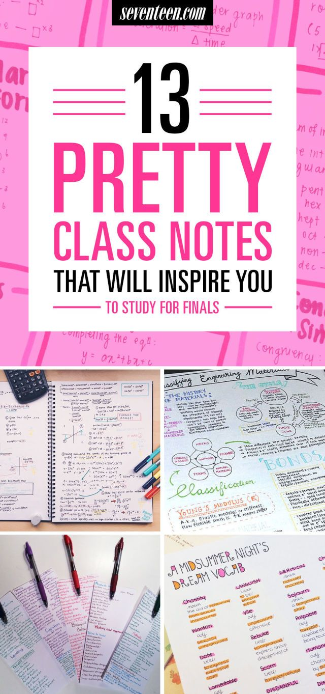 best ideas about high school high school 13 pretty pictures of class notes that will inspire you to actually study for your finals