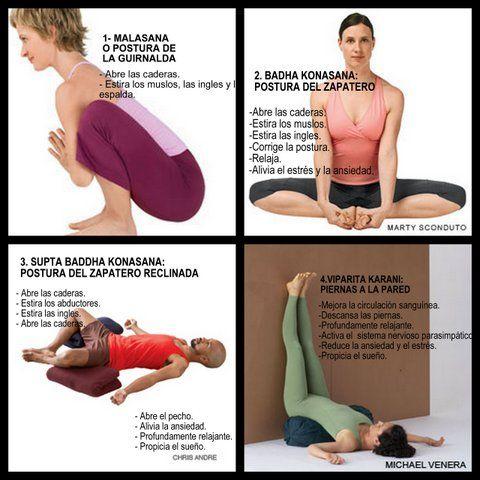 Secuencia restauradora: posturas de yoga para relajarte, y preparar el sueño. www.insayoga.com www.facebook.com/insayoga