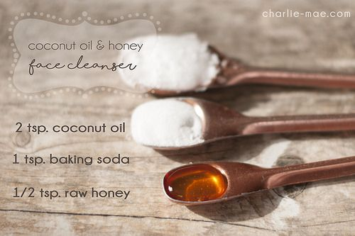 www.charlie-mae.com Coconut oil, baking soda, and honey face wash
