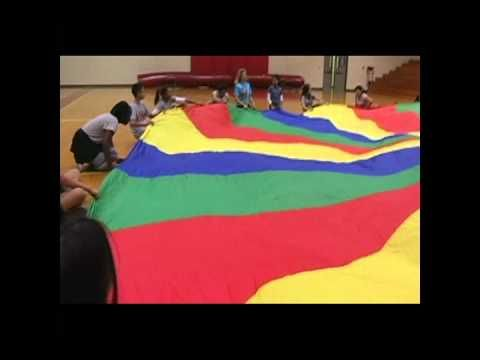 Middle School Parachute Activities: this would be good for basic movements then added to music.