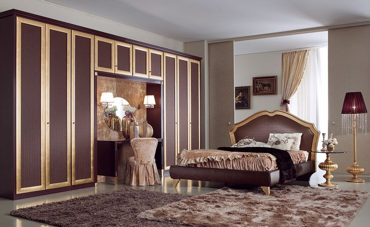 Composition M208 Door mod. NABUCCO golden frame, board in faux leather with an interwoven brown pattern. MOKA lacquer finish