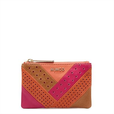CLASSICO MIM POUCH IN 'FLAMINGO' FROM MIMCO