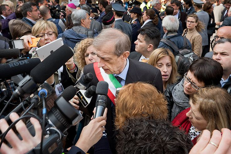 Il Sindaco di Torino Piero Fassino durante l'incontro con i giornalisti nel giorno dell'inaugurazione dell'Ostensione della Sindone. 18.04.2015  © Emanuele Fusco Photography