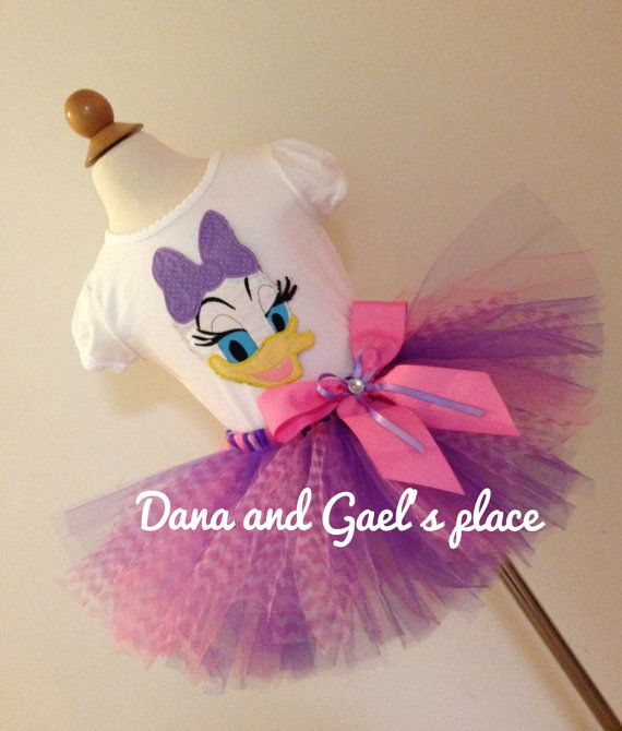 Cute Daisy Duck tutu with chevron tulle and by DanaandGaelsplace, $43.00