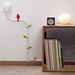 LouLeChien - monkey business - setje decoratieve kabelclips wire bloom