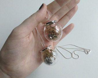 Collana di cristallo di quarzo belljar di RubyRobinBoutique