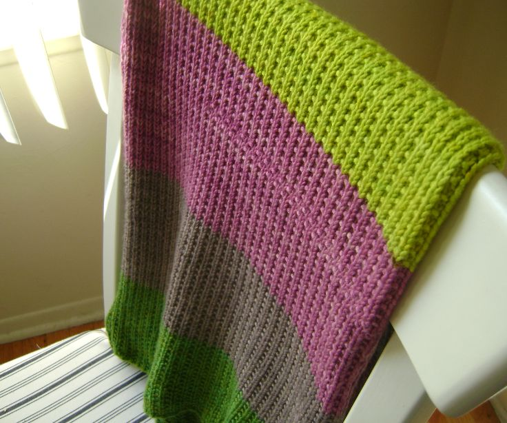 """Knitting A Throw Blanket: """"Super Easy Baby Blanket"""" For A Baby Girl"""