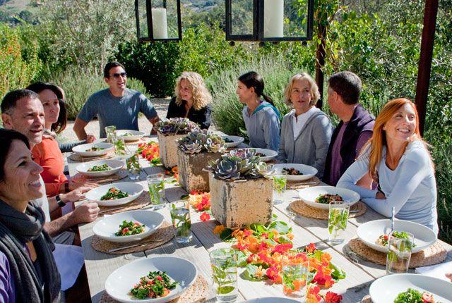 Alyssa Shelasky's Weeklong Boot Camp at the Ranch at Live Oak Malibu - Recipe Ideas and Kale Caesar Salad Recipe-- Bon Appétit