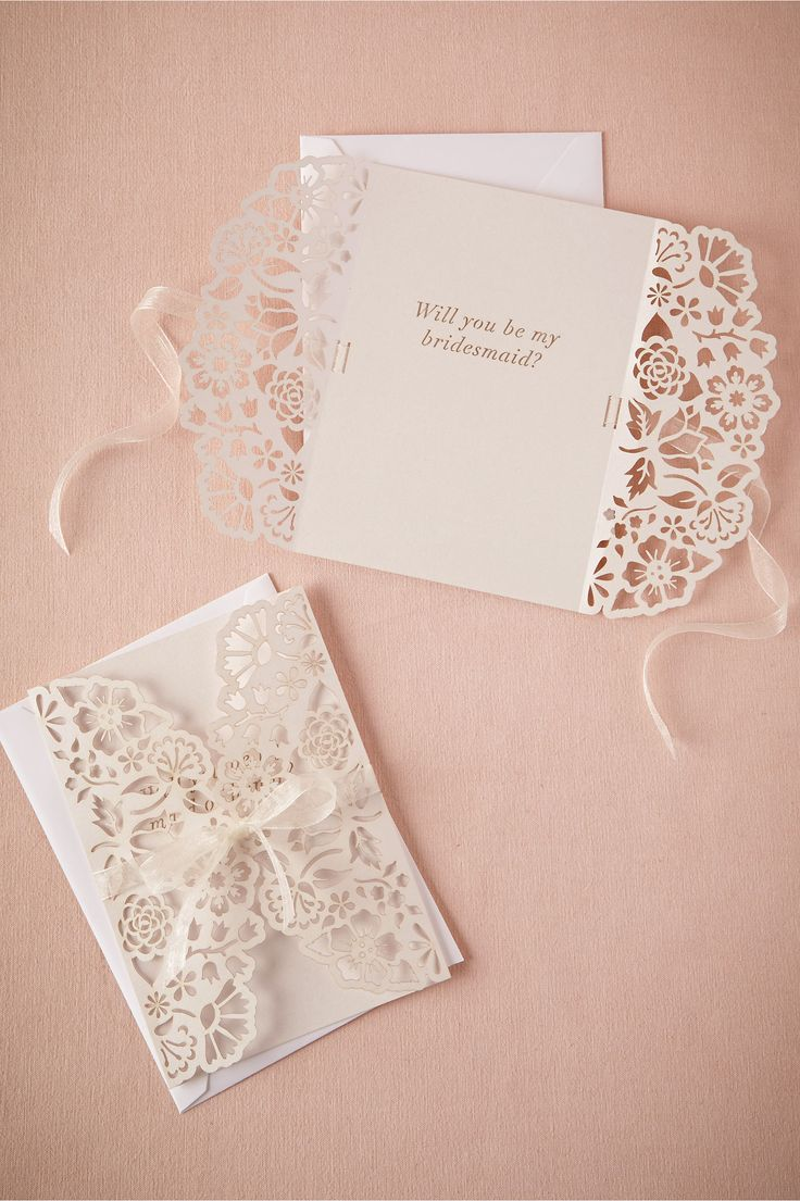 Lacy Maid & Maid-of-Honor Card from BHLDN