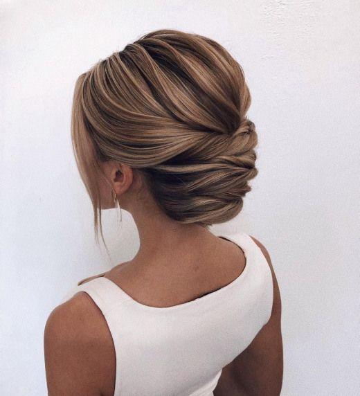 swept back wedding hairstyle bridal hairstyles messy swept back hairstyles ponytail bridal hairstyles #wedding #weddinghair #weddinghairstyles #hairst