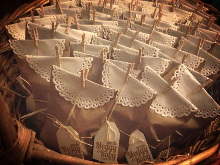 Boho/DIY wedding favors lace scented chalks
