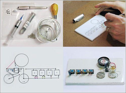 Receta para hacer tinta conductiva. El plan es hacerse unos mililitros de tinta conductora de electricidad, meterla en un bolígrafo y, literalmente, dibujar circuitos eléctricos.