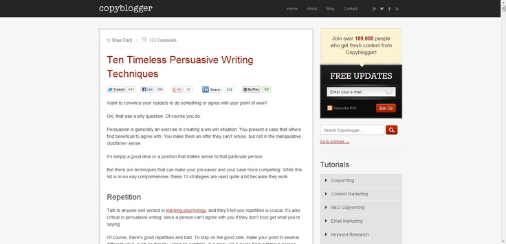 *** Ten Timeless Persuasive Writing Techniques