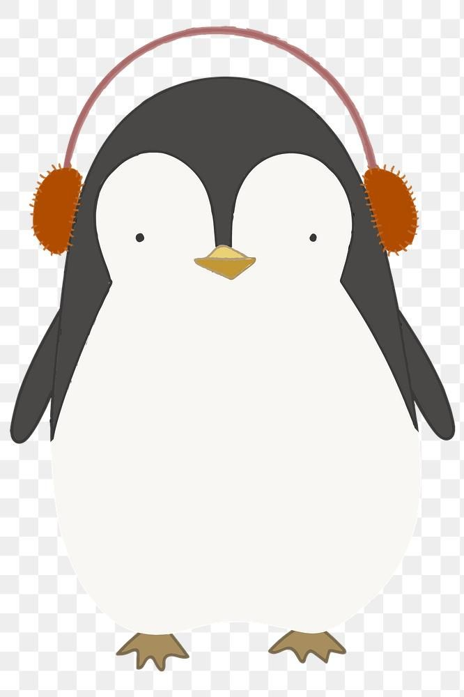 Cute Penguin Listening To Music Transparent Png Free Image By Rawpixel Com Marinemynt Cute Penguin Cartoon Cute Penguins Animal Doodles