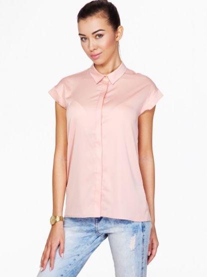 Dámská košile s krátkým rukávem AMBIGANTE - růžová