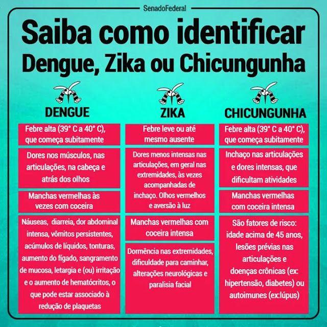 Pedagógiccos: Identificando a Dengue, Zika e Chikungunya