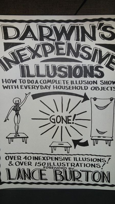 Darwin's Inexpensive Illusions Autographed Book 40 Illusions Magic tricks Please check out all our rare value priced Magic tricks & Books at: http://stores.ebay.com/webrummage