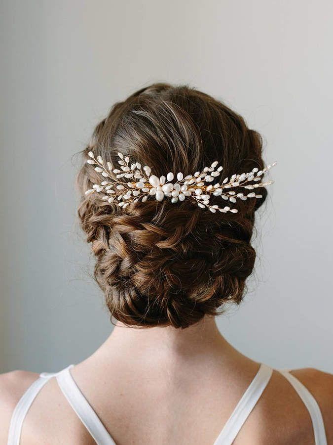 etsy pearl hair comb wedding hair accessories bridal headpiece pearl flower hair piece bridal hair ad