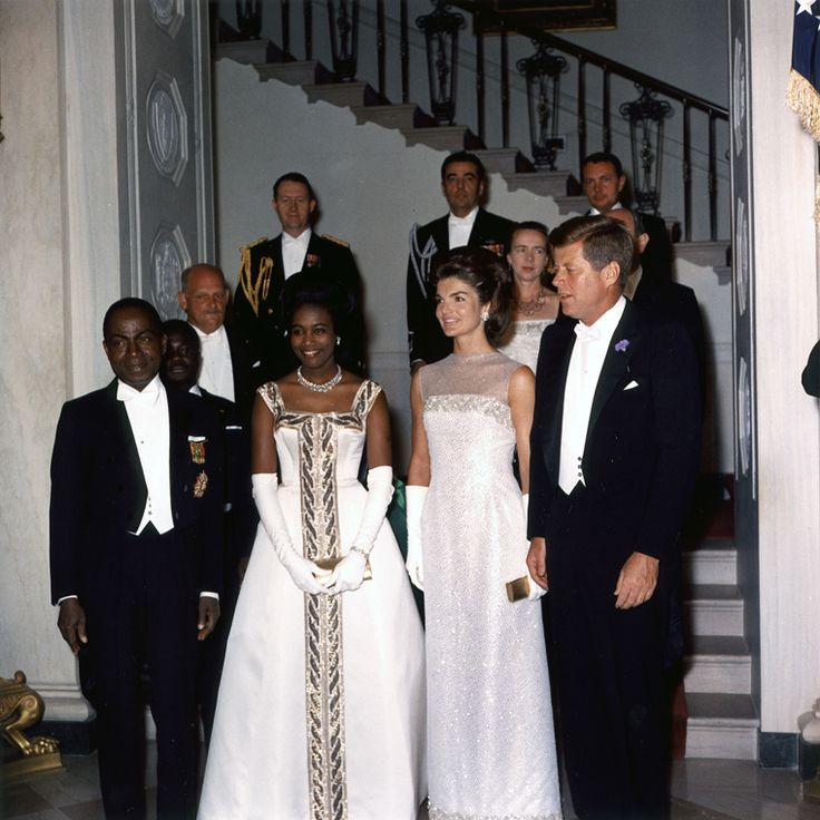 President and Mrs. Kennedy with President and Madame Houphouet-Boigny of the Ivory Coast, 22 May 1962