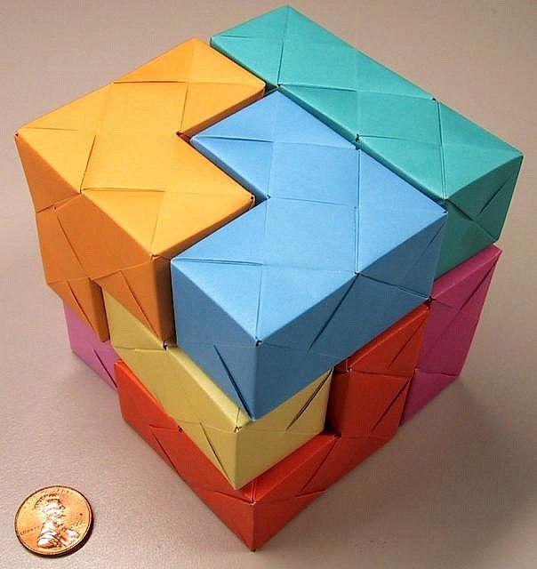 sonobe soma cube cube origami and modular origami
