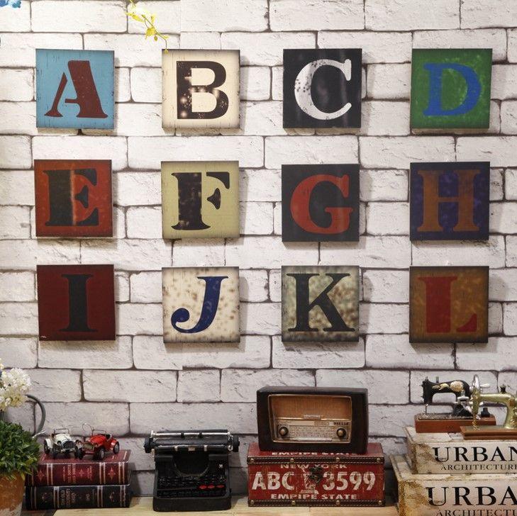 Купить товарТворческий письмо от а до я деревянные настенная живопись, Ретро деревянный, Уникальный домашнего декора, Фестиваль подарок в категории Деревянные ремеслана AliExpress.