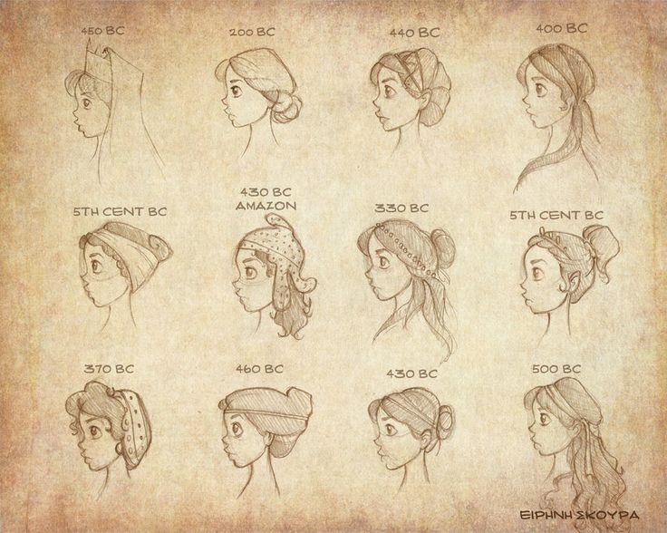 Ancient Greek Hairstyles Vol 2 by Ninidu.deviantart.com on @deviantART