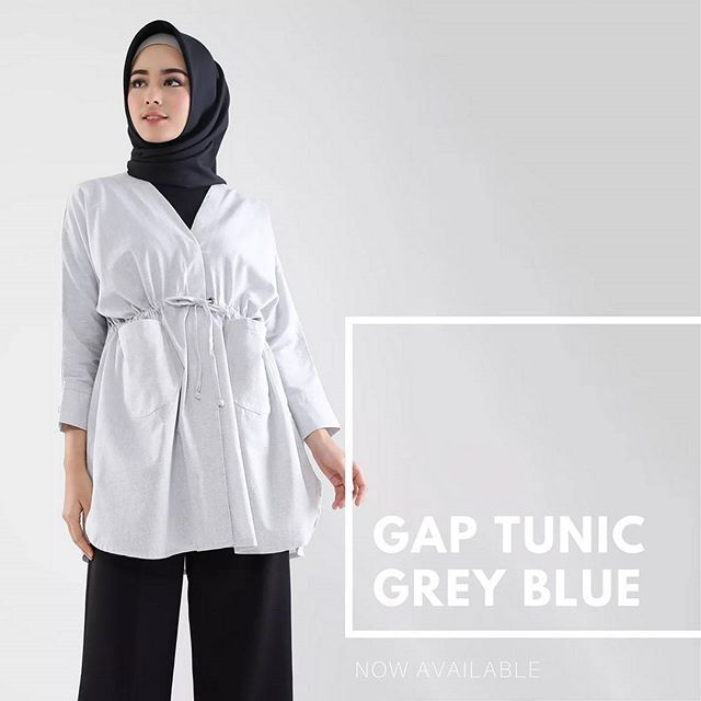 Have you missed your chance to get Gap Tunic Cream? Don't you worry ladies. Gap Tunic Cream now back in stock and to surprise you more we also have new colour Gap Tunic Blue Grey. What so good about this one? Of course super comfort material and super cool loose design and cutting . Now available at www.hijup.com and www.eclemix.com . Or you may reach our admin contact at :  line@ : @eclemix  WA : 081326004010 . We accept debit and credit card transaction verified by midtrans . #eclemix…