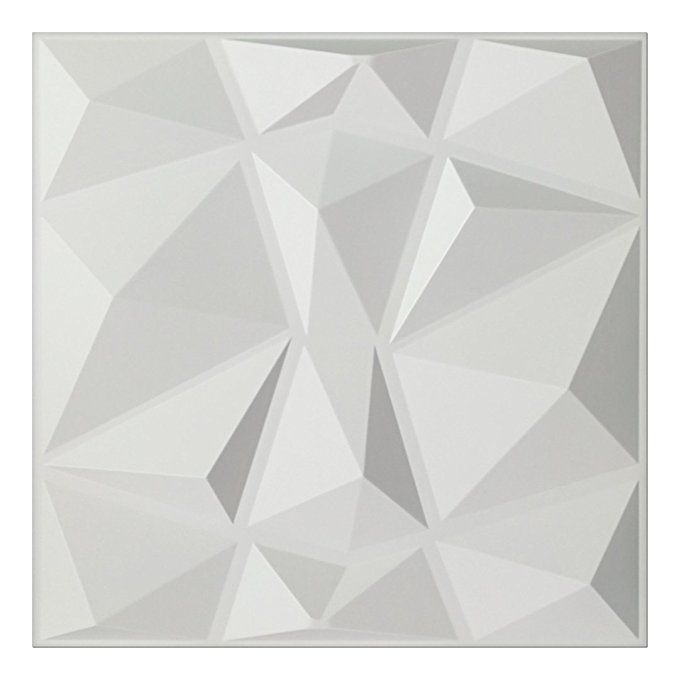 Art3d Textures 3d Wall Panels White Diamond Design Pack Of 12 Tiles 32 Sq Ft Pvc Pvc Wall Panels 3d Wall Panels Vinyl Wall Panels