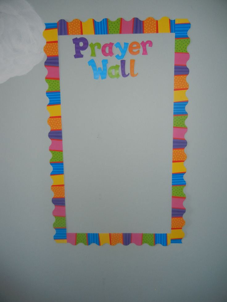Prayer Well bulletin board idea. Great for Vacation Bible School! They used CTP's Playful Patterns Border