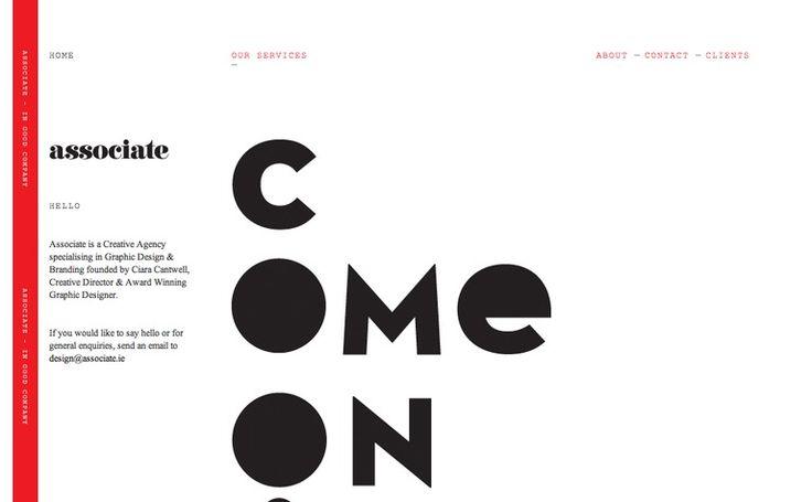 design approach / light design, bold typo