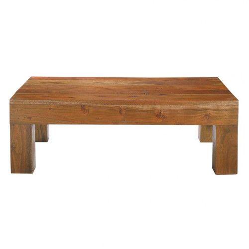 Tavolo basso in massello di acacia L 90 cm
