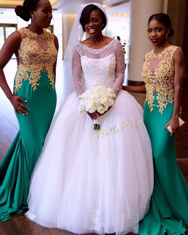 A true west african wedding congrats liberian earlinda for Plus size african wedding dresses