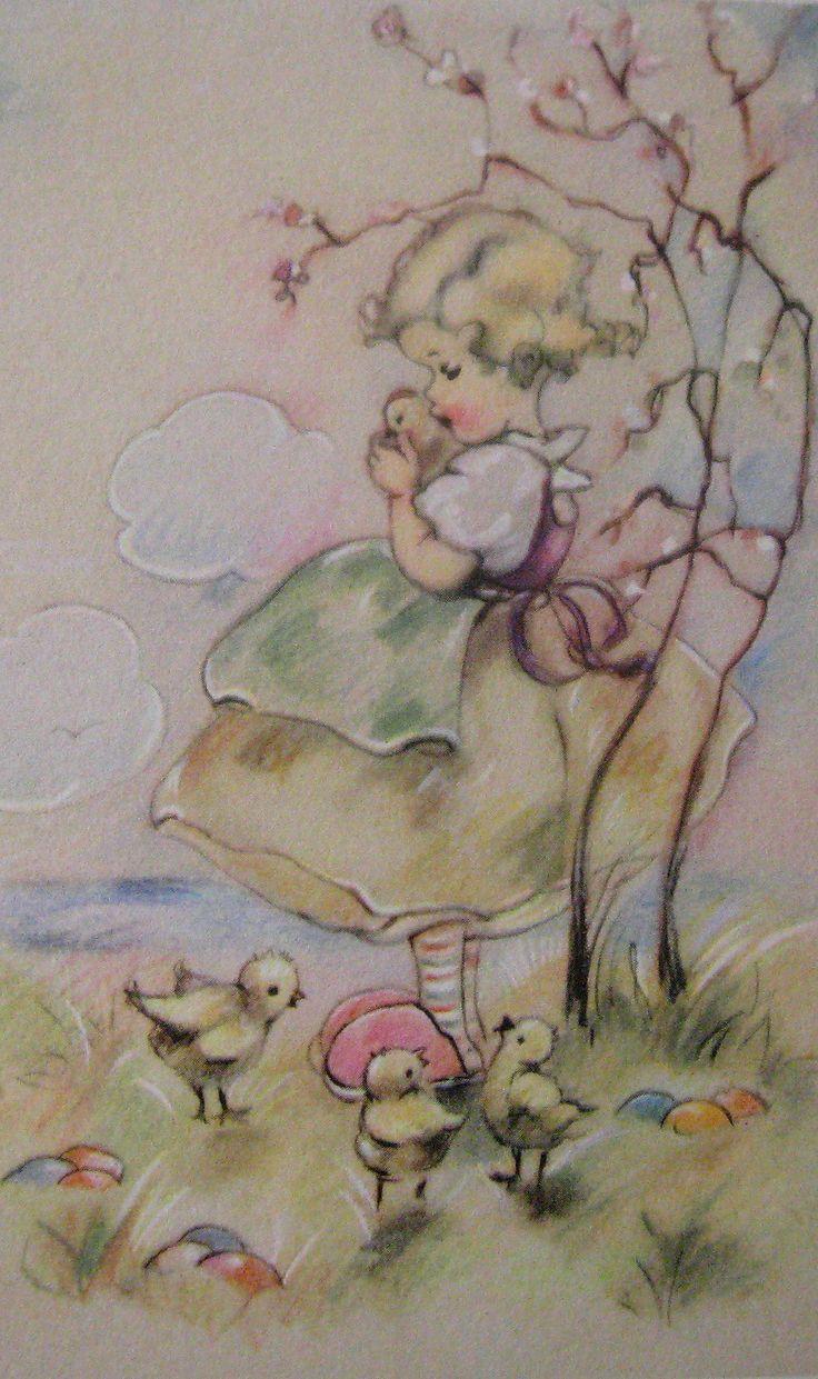 Vintage Easter card ~ Belgium