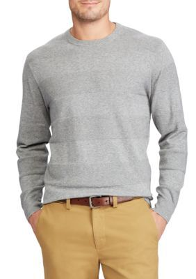 Chaps Men's Cotton Crew Neck Sweater - Steel Heather - 2Xl