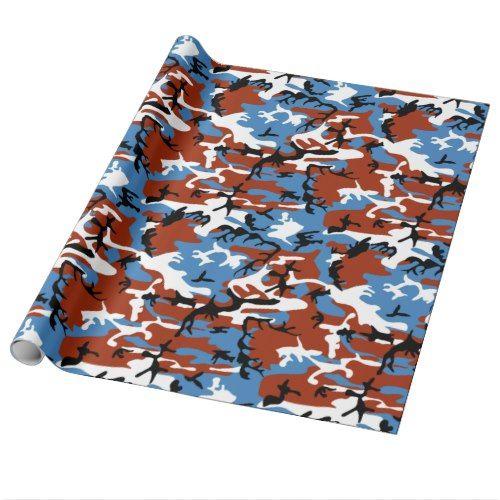 Patriotic Camo Wrapping Paper