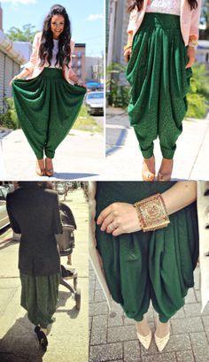 Salwar with a blazer/jacket. Interesting stuff.