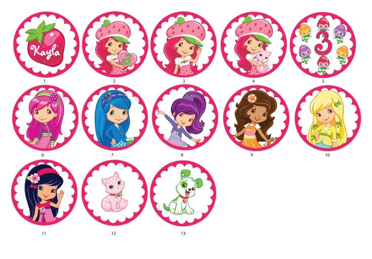 Strawberry Shortcake Cupcake Toppers | Strawberry Shortcake Cupcake Toppers. via ... | Jorja's 5th Birthday ...