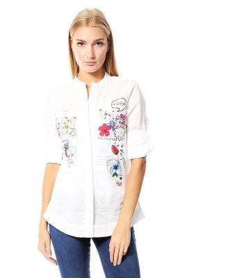 Camisa Blanca Estampada Desigual Blanco   Dafiti México