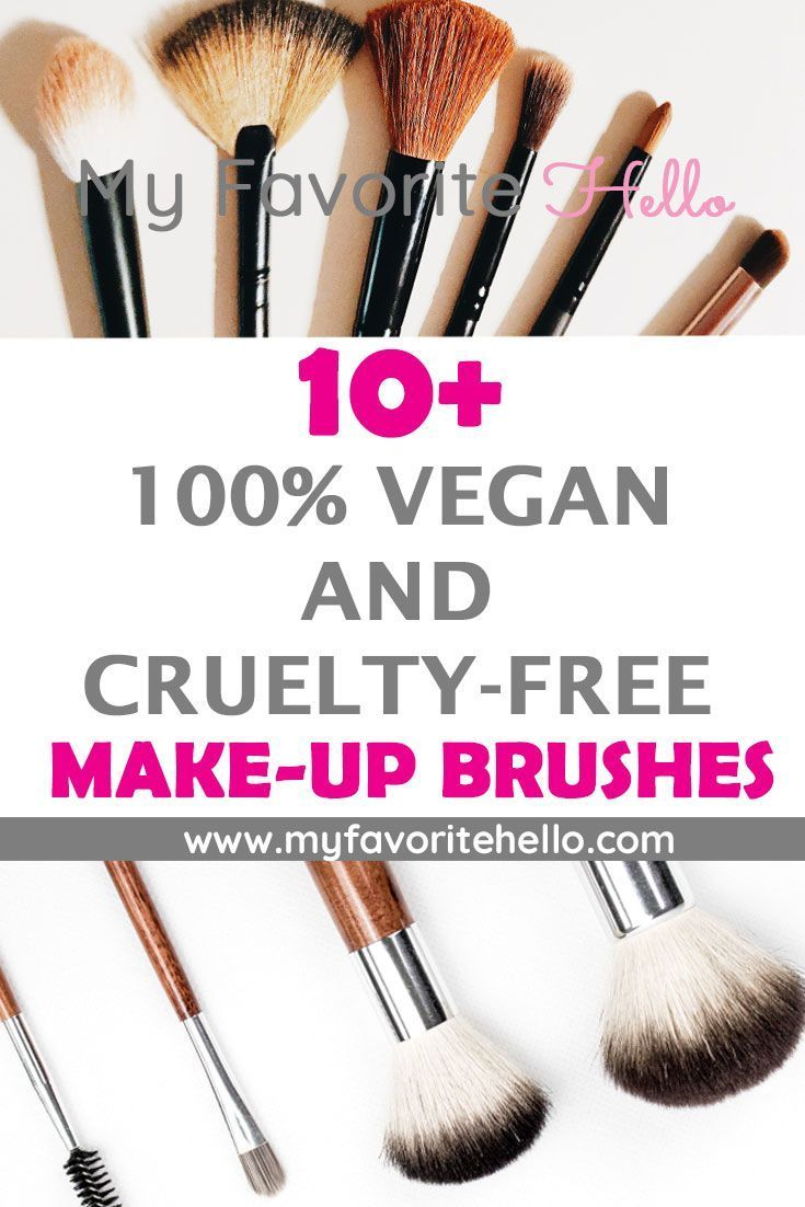 10+ Vegan and Cruelty-Free Make-Up Brushes | All Things