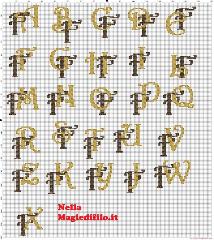 Iniciales letras entrelazadas F