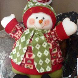 Cojin muñeco de nieve gordo