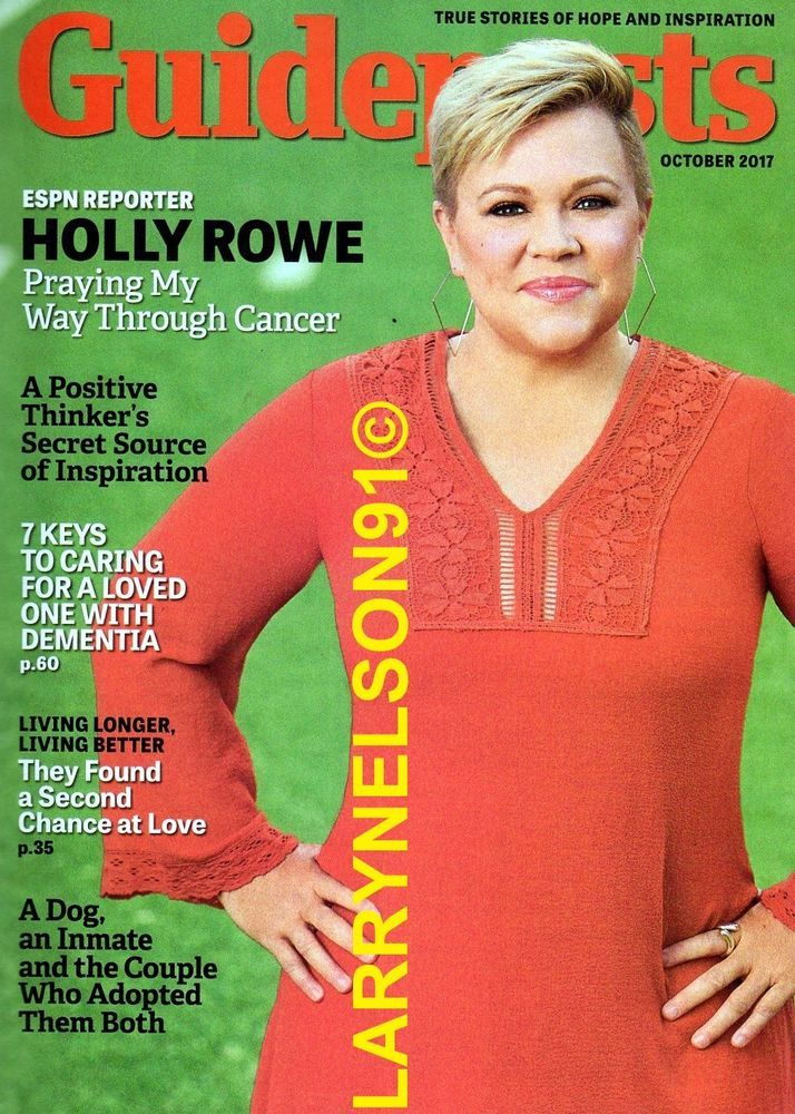GUIDEPOSTS MAGAZINE OCTOBER 2017 ESPN HOLLY ROWE CANCER DOG INMATE ADOPTION USA