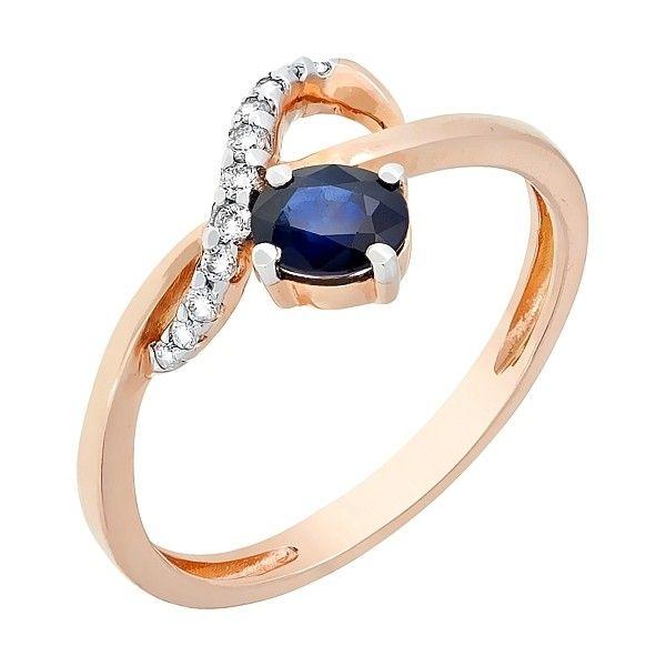 Кольцо с бриллиантом и сапфиром mg_98149