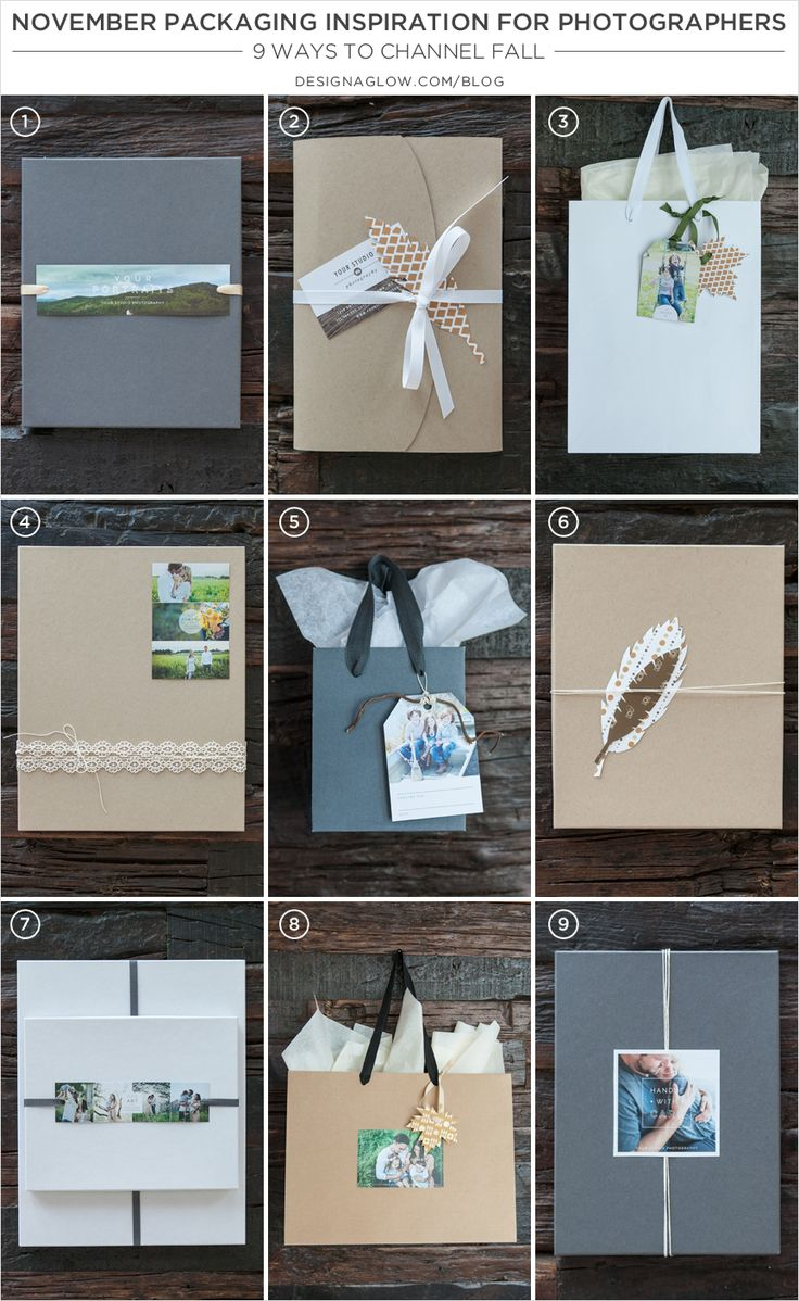Nov. Packaging Inspiration for Photographers: 9 Fall Ideas #designaglow